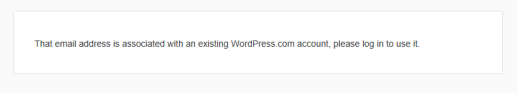 Email address associated with WordPress account.