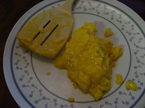 Salmonelleggs: Critically Undercooked Scrambled Eggs