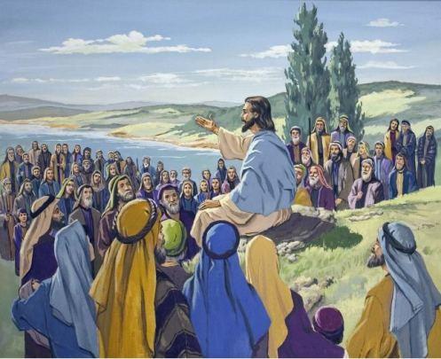 Jesus and multitudes